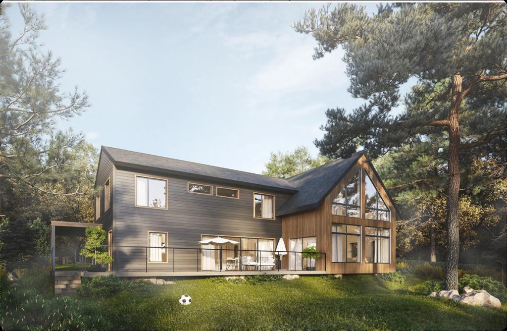 Exterior Design of a Country House