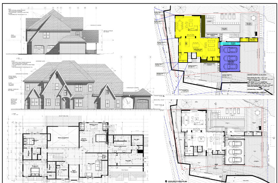 Farm House Permit Drawing Preview