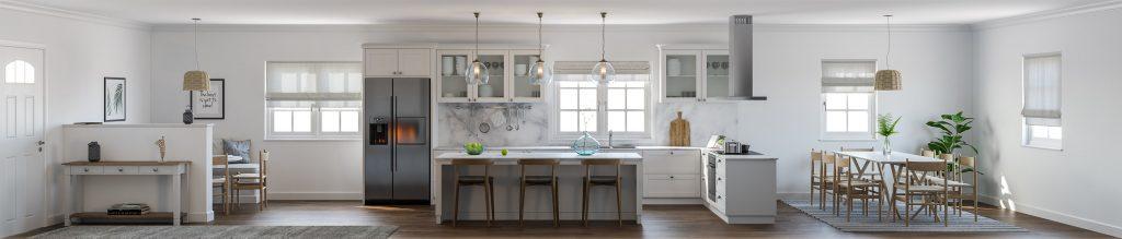 Minimalist living & Kitchen Area design