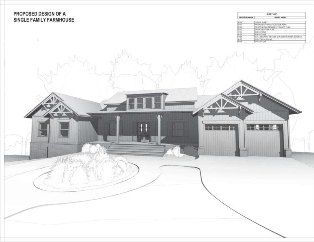 Proposed Design Of A Single Familly Farmhouse Québec